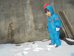 ぼくは雪の下に隠れてるお宝さがしに夢中です☆