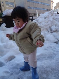 雪がシャーベットみたい~💛