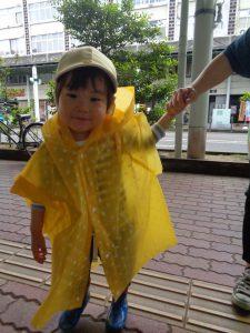 黄色いカッパ似合うでしょ♡